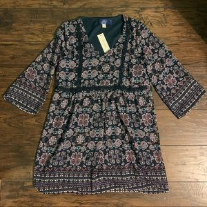 NEW Francesca's Floral Boho Dress